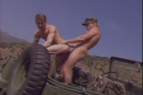 There hardcore Militar homosexual Sir Pull Over The Jeep To pull out Of Each Others asses