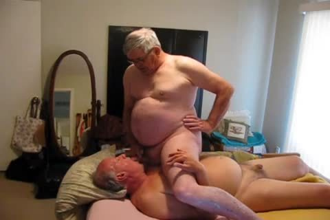 Two daddy men Playing In bed