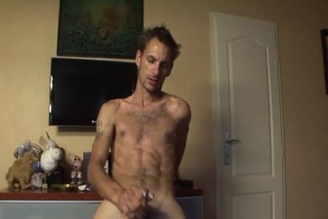 Skinny Bum twink lucky Jerks Off His Pike
