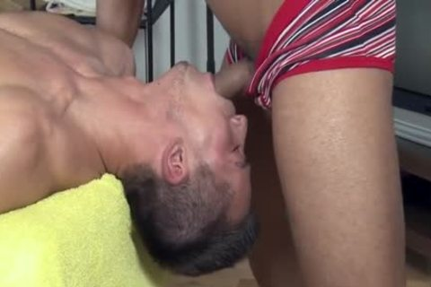 delicious Daddy butt job With Massage