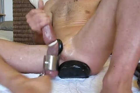 humongous vibrator and toys in  gaping hole