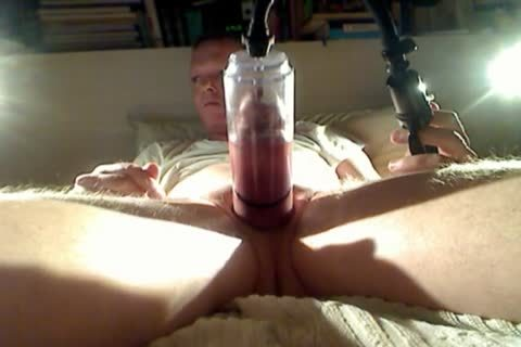 Pumping My penis And Balls At Night two