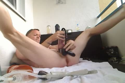 Pumping My cock And booty, dildo fuck