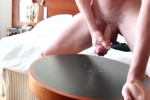 precum and cum on table