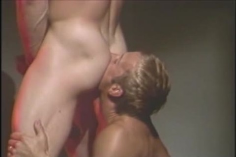 Leather gay boys In group sex orgy