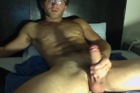 juicy lad In Glasses Jerks His big 10-Pounder