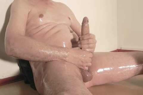 Robin Jerks His bald Oiled Uncut Monstercock 156
