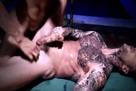Muscle Tattoo guy Loaded His Bro