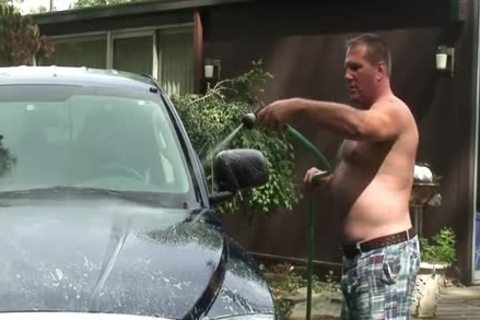 Daddy Washes His Truck And Jerks Off