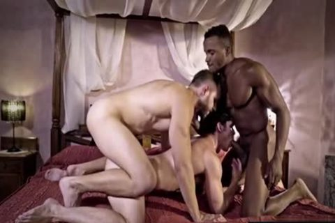 large penis gay trio And cream flow