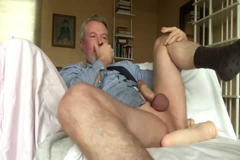 Suited Daddy sex dildo Jerkoff