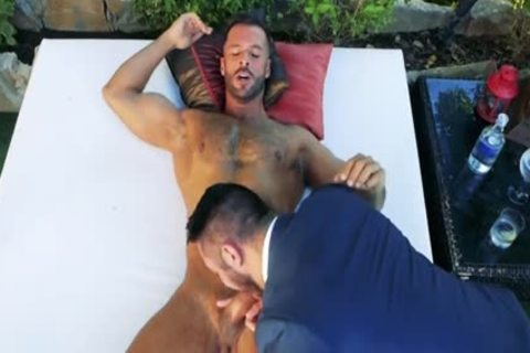 Muscle homosexual anal job With ball cream flow