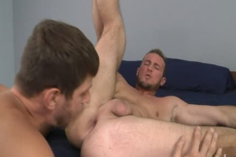 Bearded Straight males Trying Out homo Porn