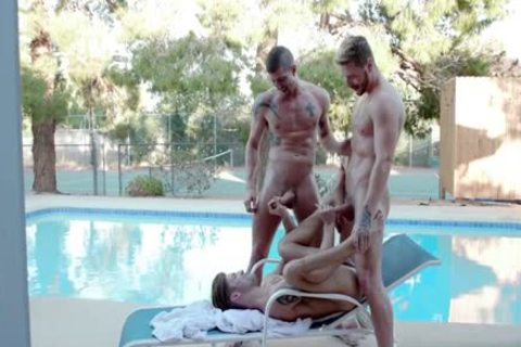 large ramrod homosexual threesome And cumshot