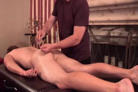 Uncut blonde Redneck Massage