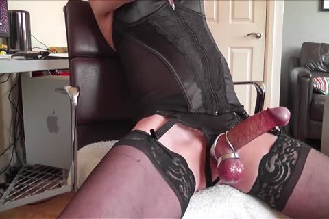 darksome Corset, stockings, steel Rings And love juice