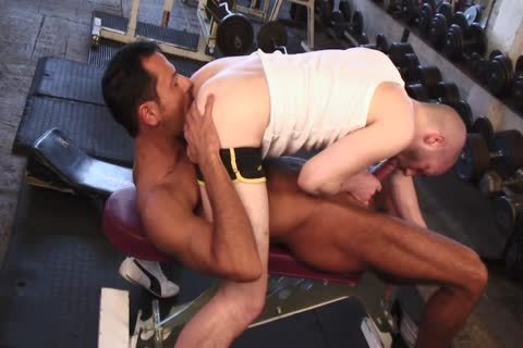 Tanned Lad Nails fascinating Lad's chocolate hole In The Gym