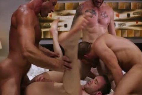 gigantic dick Son Foursome And sperm flow