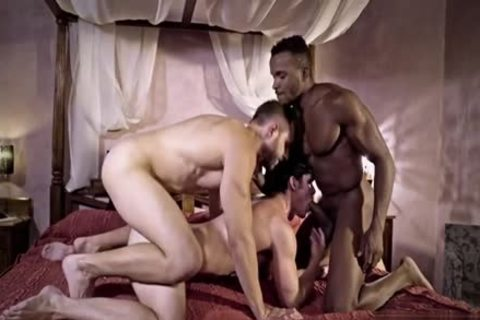 large 10-Pounder homosexual 3some With sex cream flow