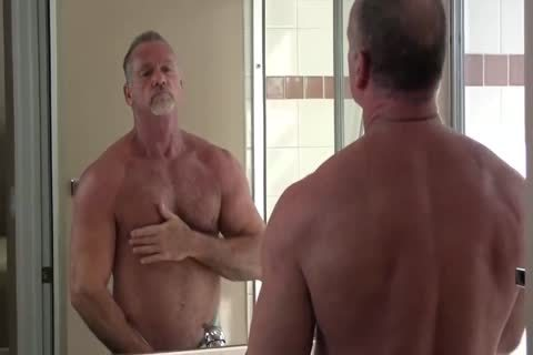 sexy Muscle Daddy Mikey Shower jerk off & love juice