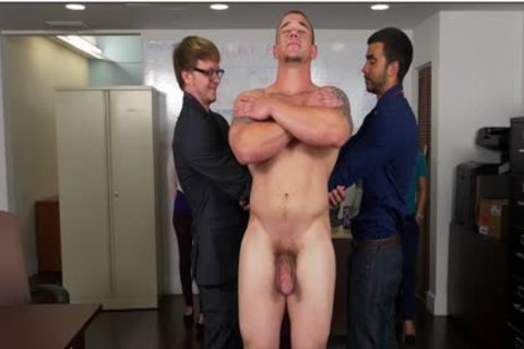 GRAB anal - Hunky Boss Teaches His Office Team All About Teamwork