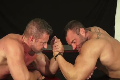 Muscle man And Dilf Wrestle