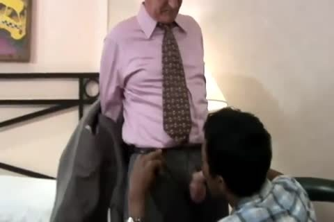 mature White dad fucks darksome Son