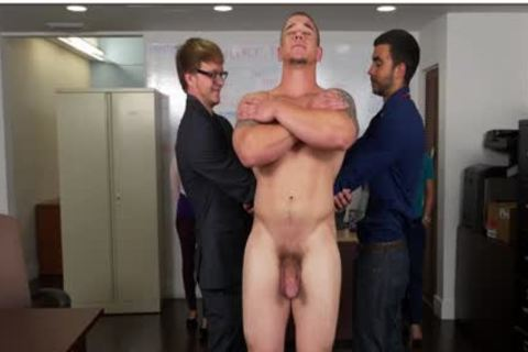 GRAB a-hole - Hunky Boss Teaches His Office Team All About Teamwork