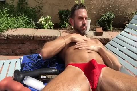 Dilf fucking His aperture Outside
