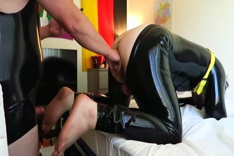 Latex Play Fisting Attempt And drilling