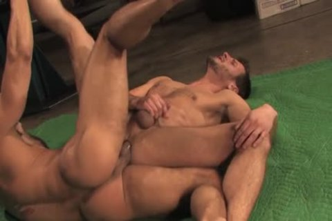 Muscle homo anal With anal ball batter flow