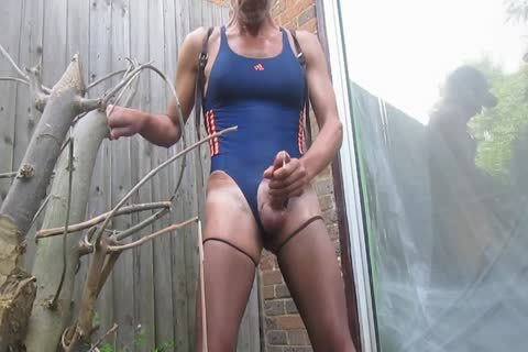 Outdoor sperm In Swimsuit And hose