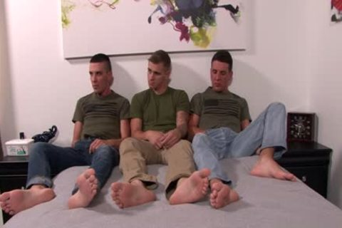 humongous shlong homosexual 3some With Facial