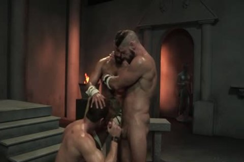 Muscle Bear threesome And ball batter flow