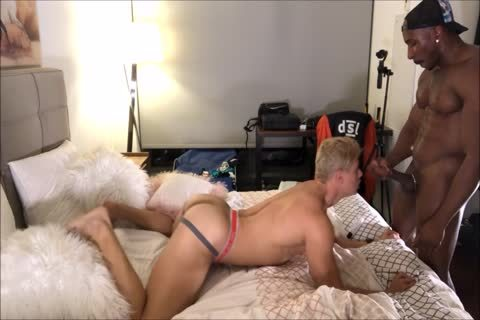 blonde Interracial butthole plowing And ass Licking