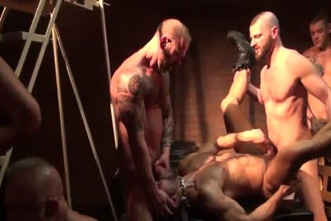 Seth Santoro's bunch gangbang Part 1