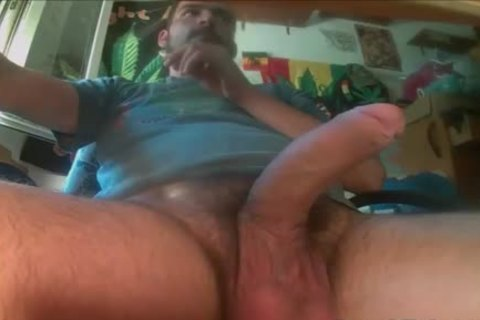 Balls Full Of spooge gets Solo Jerked Off