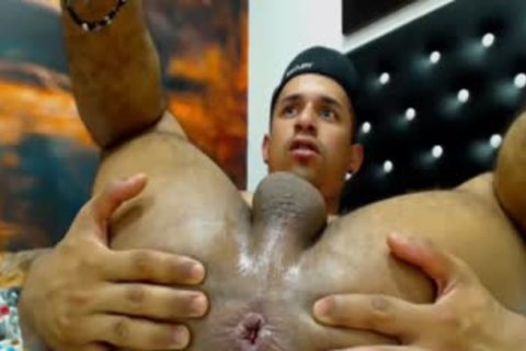 Latino With Muscle ass And throbbing fake penis (no cum)