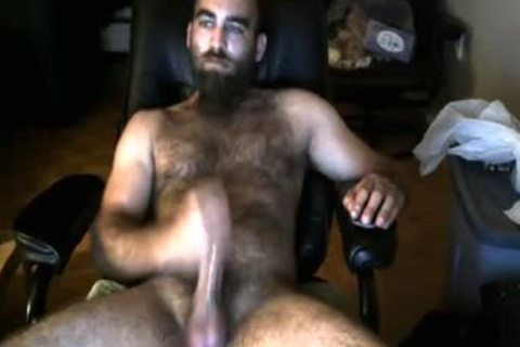 Bearded hairy Bull shoots A enormous Load