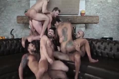 Six Muscle unprotected gangbang
