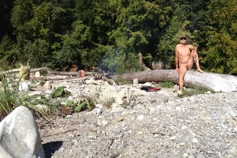 Uncut Nudist Enjoying The outdoors
