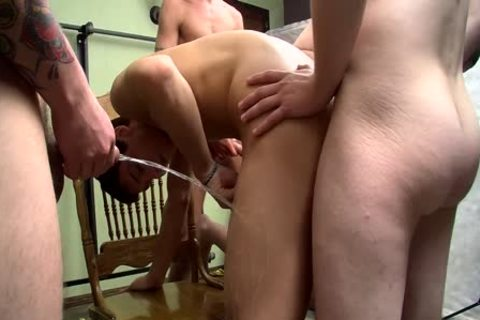 cock sucker Bryce Corbin Blindfolded And urinated On orgy