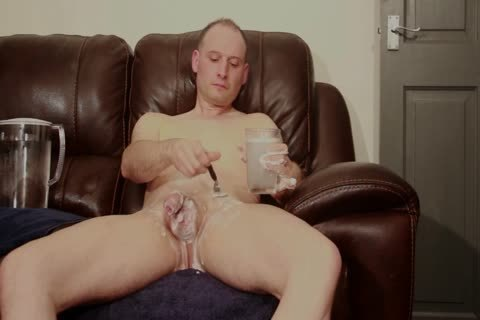 SOFA naked man SHAVES moist SOAPY jack off cum