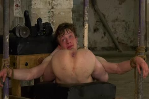 young homosexual Alex Faux Restrained For coarse ass Play