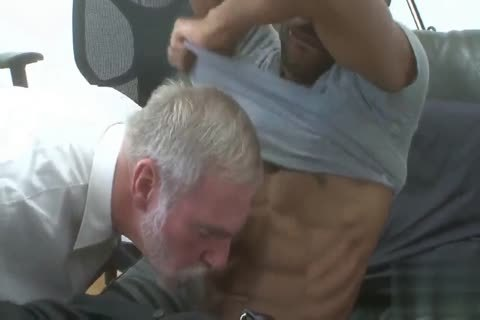 stylish Silver Daddy drilled By black young Muscle