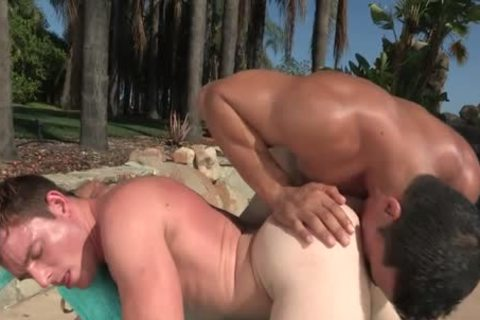 delicious Outdoor Action By The Pool