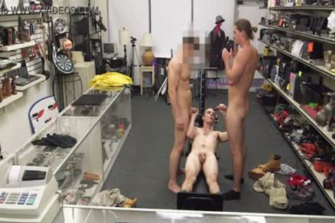 homo PAWN - Fitness Trainer gets butthole team-banged By Two Employees