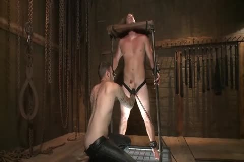 Held In A Stock, Facefucked And Flogged