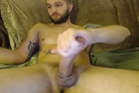 delicious straight Hunk Jerks Off And Fills His booty With A anal-plug