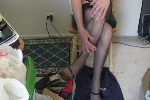 darksome RHT stockings, Heels And cum